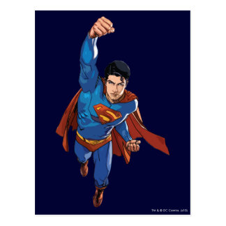 Superman Flying Forward Postcard