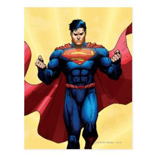 Superman Flying Postcard