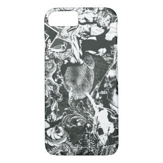 Superman Gray Collage iPhone 7 Case