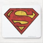 Superman Grunge Logo Mousepads