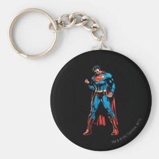 Superman  - Hand in fist Basic Round Button Keychain
