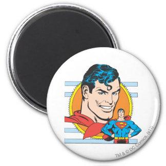 Superman Head Shot 2 Inch Round Magnet