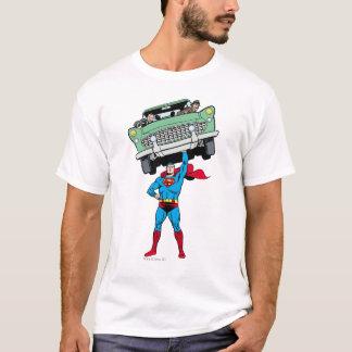 Superman holds a car T-Shirt