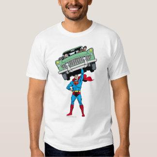 Superman holds a car tee shirts