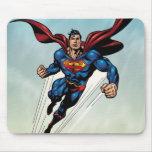 Superman leaps upward mousepads