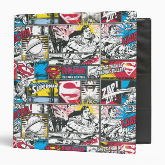 Superman Logo Pattern 2 3 Ring Binder