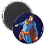 Superman Looking Down 2 Inch Round Magnet