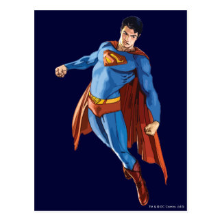 Superman Looking Down Postcard