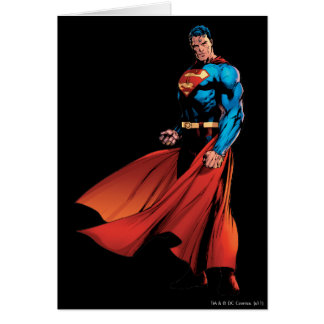 Superman Looks Front Card