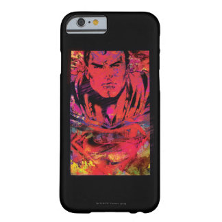 Superman Red Grunge Barely There iPhone 6 Case