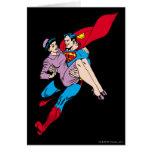 Superman rescues Louis Greeting Card