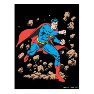 Superman Runs in Rubble Postcard