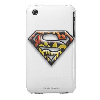 Superman S-Shield   Black Outline Graffiti Logo Case-Mate iPhone 3 Case
