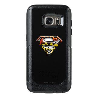 Superman S-Shield | Black Outline Graffiti Logo OtterBox Samsung Galaxy S7 Case