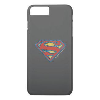 Superman S-Shield | Blue Outline Grunge Logo iPhone 8 Plus/7 Plus Case