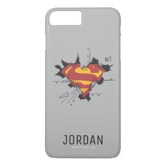 Superman S-Shield | Broken Metal Logo | Name iPhone 8 Plus/7 Plus Case