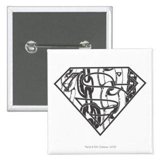 Superman S-Shield | Chainlink Logo 2 Inch Square Button