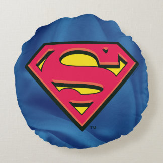Superman S-Shield | Classic Logo Round Pillow
