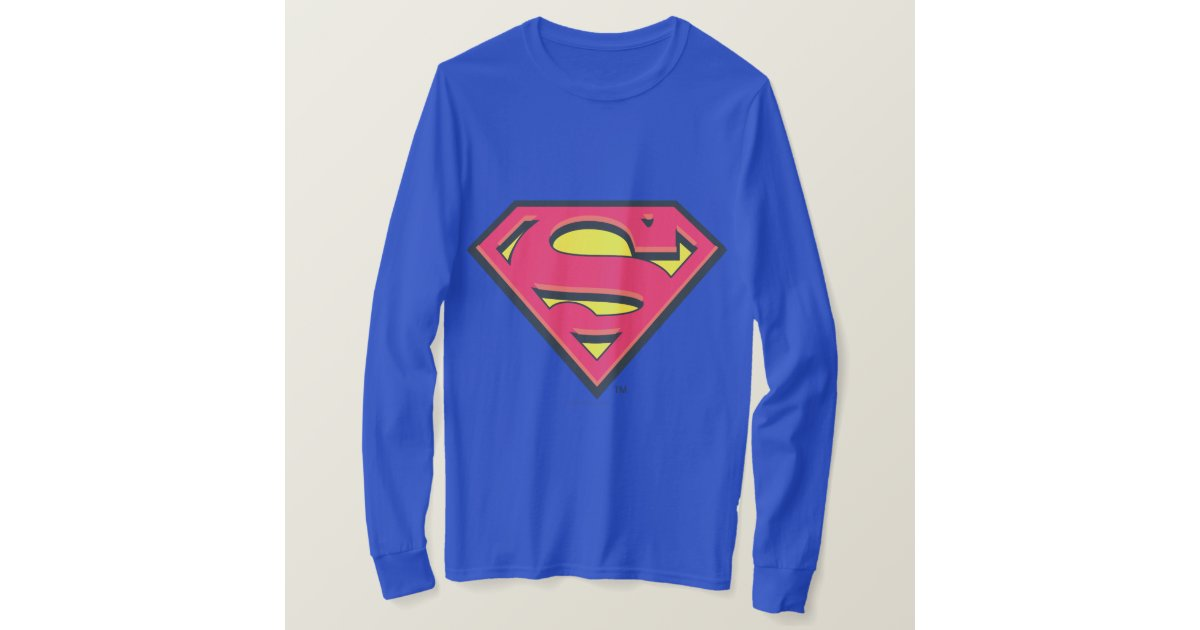 Superman s shield classic logo t shirt for Make your own superman shirt