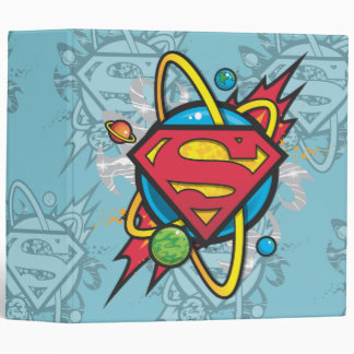 Superman S-Shield | Cosmic Superman Logo 3 Ring Binder