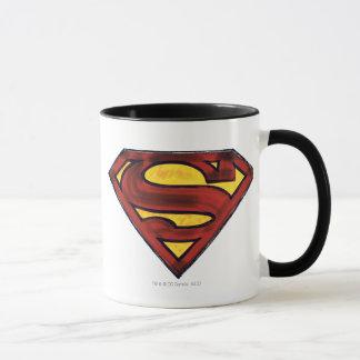 Superman S-Shield   Darkened Red Logo