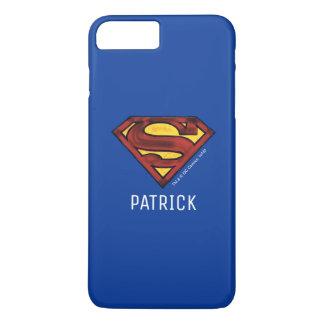 Superman S-Shield | Darkened Red Logo | Add Name iPhone 8 Plus/7 Plus Case