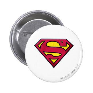 Superman S-Shield | Dirt Logo 2 Inch Round Button