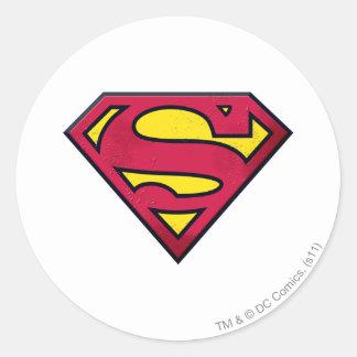Superman S-Shield | Dirt Logo Round Sticker