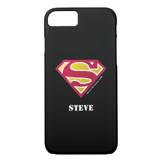 Superman S-Shield | Distressed Dots Logo | Name iPhone 8/7 Case