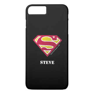 Superman S-Shield | Distressed Dots Logo | Name iPhone 8 Plus/7 Plus Case