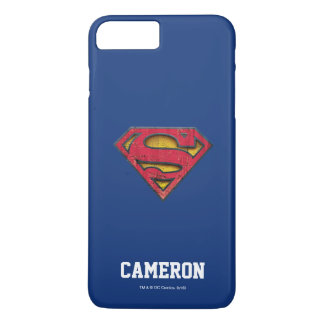 Superman S-Shield | Distressed Logo | Add Name iPhone 8 Plus/7 Plus Case