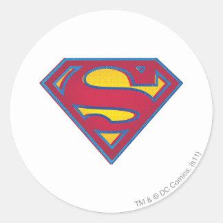 Superman S-Shield | Dot Logo Round Sticker