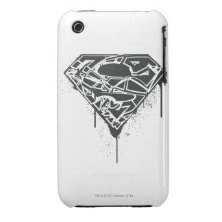 Superman S-Shield   Fragmented Splatter Logo iPhone 3 Covers