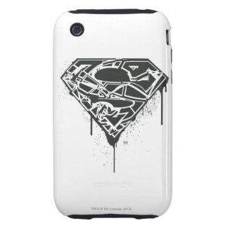 Superman S-Shield   Fragmented Splatter Logo Tough iPhone 3 Covers