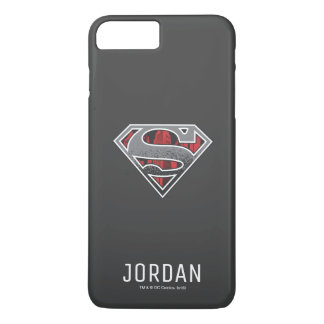 Superman S-Shield | Grey and Red City Logo | Name iPhone 8 Plus/7 Plus Case