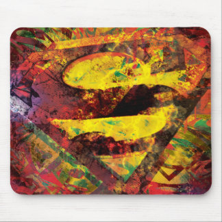 Superman S-Shield | Grunge Logo Mouse Pad