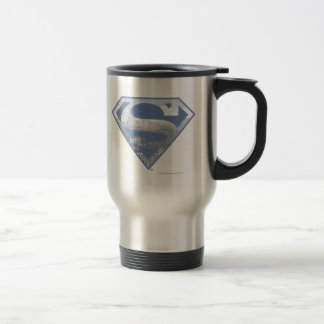 Superman S-Shield   Light Blue City Logo 15 Oz Stainless Steel Travel Mug