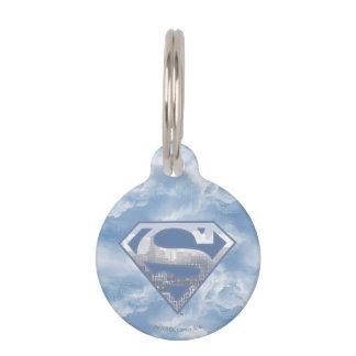 Superman S-Shield | Light Blue City Logo Pet Name Tag