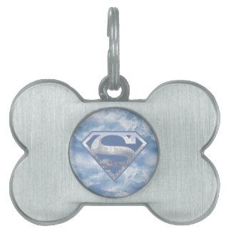 Superman S-Shield | Light Blue City Logo Pet Tags