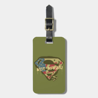 Superman S-Shield   Not Afraid Logo Travel Bag Tags