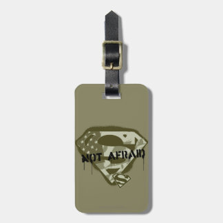 Superman S-Shield   Not Afraid - US Camo Logo Tags For Luggage