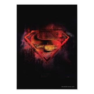 "Superman S-Shield | Painted Logo 5"" X 7"" Invitation Card"