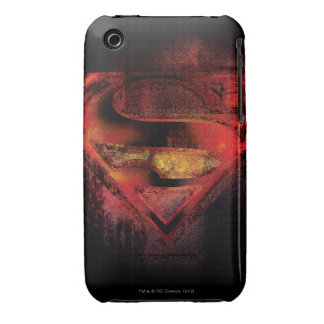 Superman S-Shield   Painted Logo iPhone 3 Covers