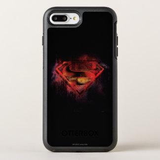 Superman S-Shield   Painted Logo OtterBox Symmetry iPhone 8 Plus/7 Plus Case