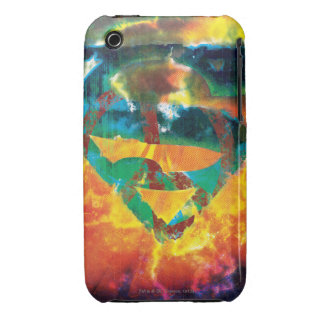 Superman S-Shield   Peace Stamped Logo iPhone 3 Case-Mate Case
