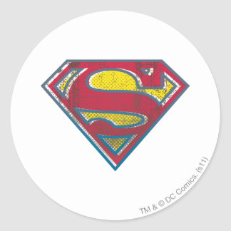 Superman S-Shield | Printed Logo Classic Round Sticker