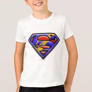Superman S-Shield   Purple Airbrush Logo Tshirt