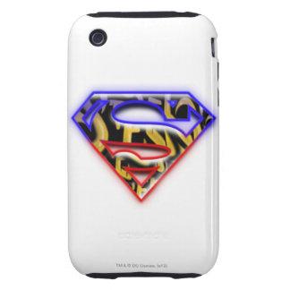 Superman S-Shield   Purple-Red Graffiti Logo Tough iPhone 3 Case