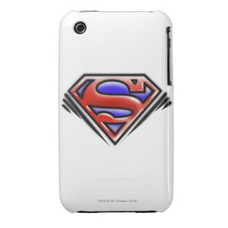 Superman S-Shield   Red Airbrush Logo Case-Mate iPhone 3 Case