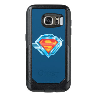 Superman S-Shield | Red and Blue Metal Logo OtterBox Samsung Galaxy S7 Case